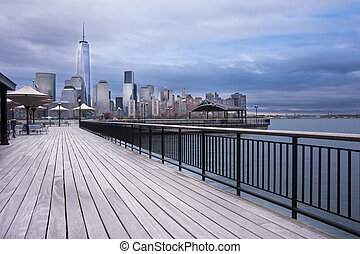 New York City skyline from Jersey