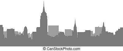 New York City Skyline - megalopolis cityscape