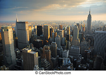 NEW YORK CITY SKYLINE - New York City Manhattan skyline...