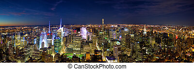 New York City skyline panorama