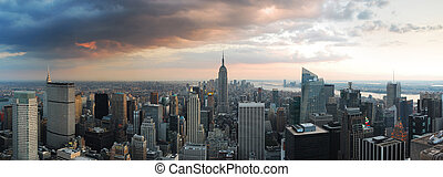 NEW YORK CITY SKYLINE panorama - New York City skyline...
