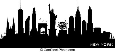 New York city skyline vector silhouette