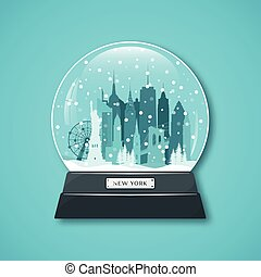 New York City snow globe.