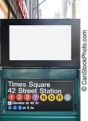 New York City Subway BIllboard