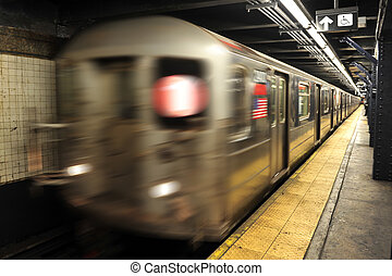 New York City Subway - New York subway, The underground...