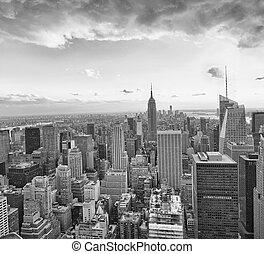 New York City sunset skyline