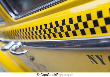 New York City Taxi - Close up background photogaph of the...