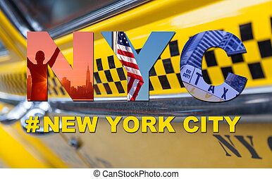 new york city taxi, taxi, tourist, reise