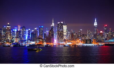 New York City Time Lapse - Nighttime time lapse of New York...