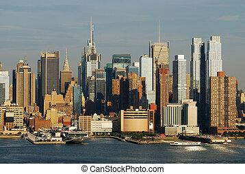 New York City Times Square skyline