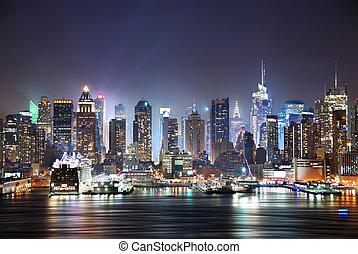 New York City Times Square - New York City Manhattan skyline...