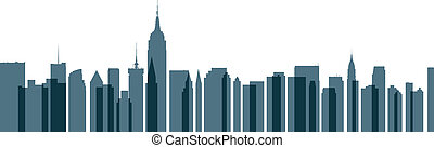 New York City Transparent Skyline