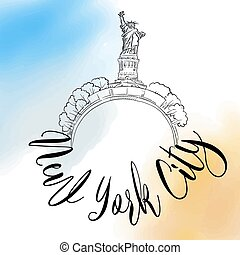 New York City travel logo
