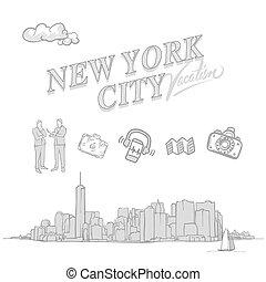 New York City travel sketches