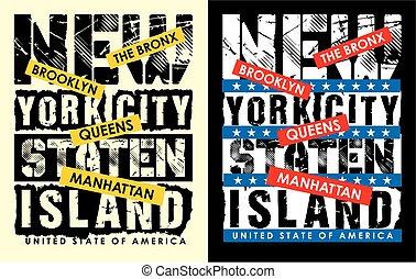 New York City typography design