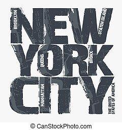 New York City Typography design - New York City Typography...