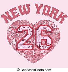 New York City Typography Graphics T-shirt