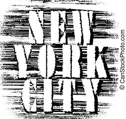 New york city typography; t-shirt graphics; vectors