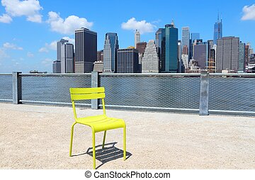 New York City, United States - Manhattan skyline from ...