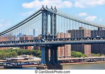 Lower East Side - New York City, USA - Manhattan Bridge and ...
