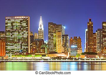 New York City, USA. - New York City, USA. Downtown buildings...
