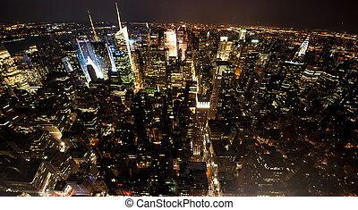 New York city view at night