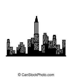 new york city view silhouette