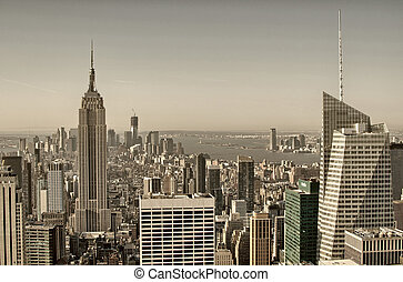 New York City. Wonderful aerial view of city skyscrapers