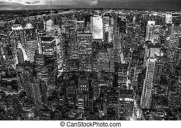 New York City. Wonderful view of Manhattan Skyscrapers