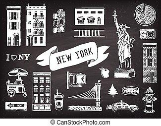 New York  - Vector set of New York city icons