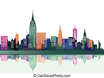 new york, coloré