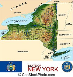 New York Counties map