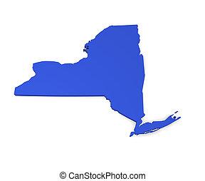 New York - 3d map of New York