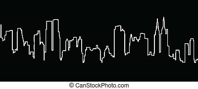 New York - vector cityscape of New York