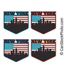 new york, etichetta