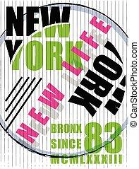New york Fashion typography graphic design