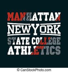 New York fashion - vector t-shirt design - New York City...