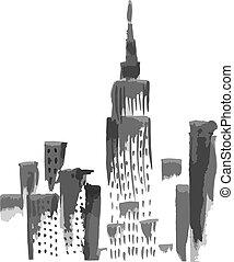 new york, felhőkarcoló