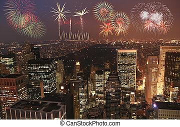 New york fireworks party