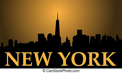 New York Freedom - New York city high-rise buildings skyline