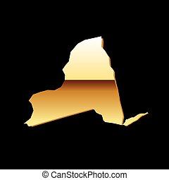 New York gold map