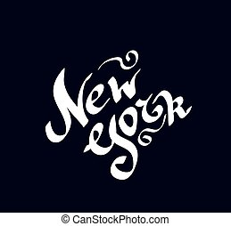 New York hand drawn bright text