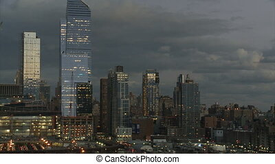 new york, helicopter and cloudy sky in the background, part 2