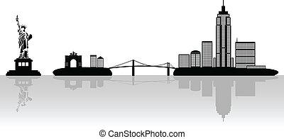 new york, illustration