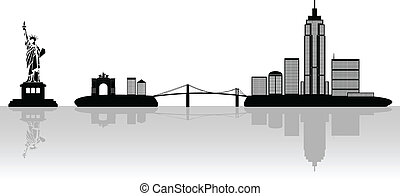 new york, illustrazione