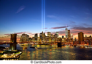 New York in memory of September 11