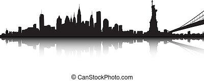 New York landscape - Vector part of the New York skyline.