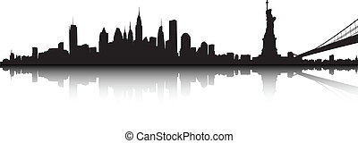 New York landscape - Vector part of the New York skyline.