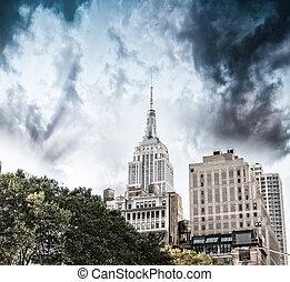 new york, luchtmening