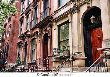 new york, maison mitoyenne